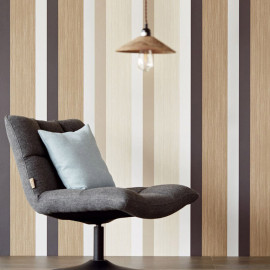 PAPIER PEINT STRIPES + WOOD DE EIJFFINGER