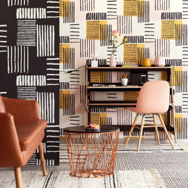 PAPIER PEINT STRIPES + ABSTRACT DE EIJFFINGER