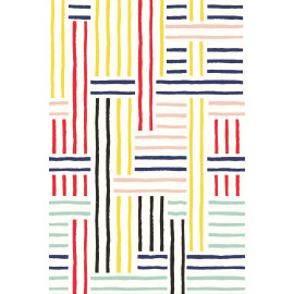 PAPIER PEINT STRIPES + PATCH DE EIJFFINGER