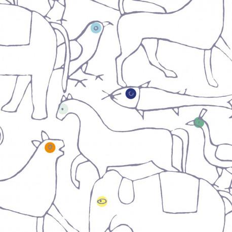 Papier peint ANIMALS BIEN FAIT
