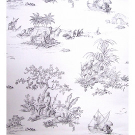 Papier peint ROBINSON CRUSOE DE CHARLES BURGER