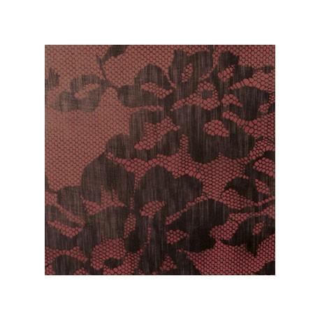 Papier Peint PALAZZO rouge/chocolat ELITIS