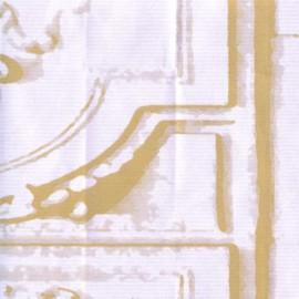 Papier Peint LA BELLE ET LA BETE Blanc/or ELITIS
