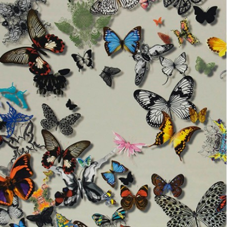 tissu BUTTERFLY PARADE Daim CHRISTIAN LACROIX