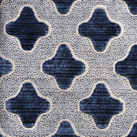 Tissu Bokeh bleu de chine CREATIONS METAPHORES