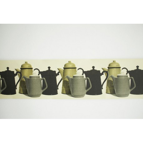 Frise décorative Bric à Brac Coffee Pot Border DEBORAH BOWNESS