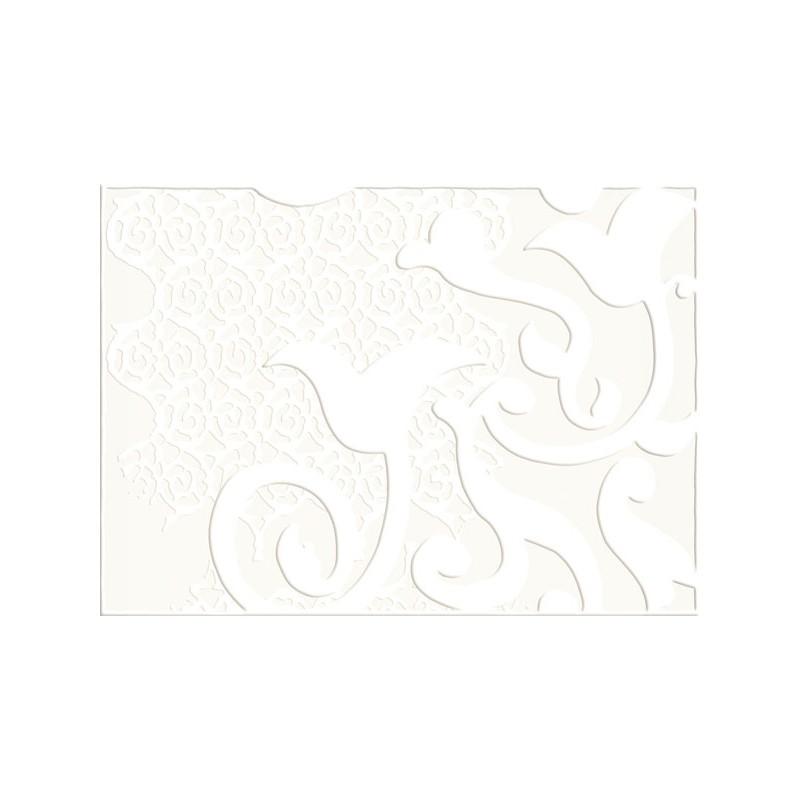 papier peint l 39 original loop blanc elitis atelier du passage. Black Bedroom Furniture Sets. Home Design Ideas