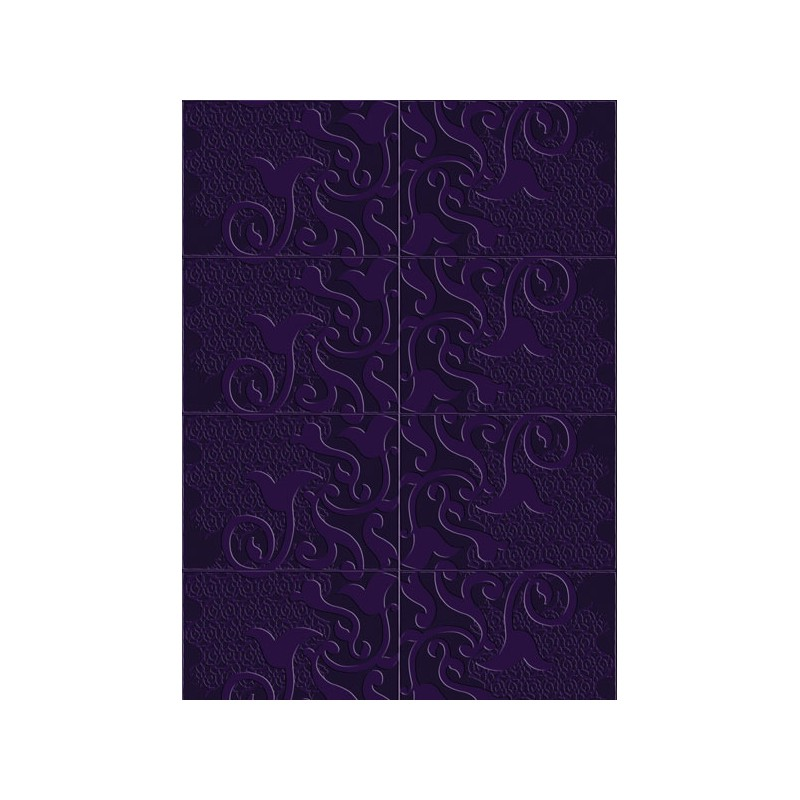 papier peint l 39 original loop violet elitis atelier du passage. Black Bedroom Furniture Sets. Home Design Ideas
