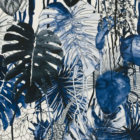 Tissu Jardin Exo'chic Méditerranée par Christian Lacroix