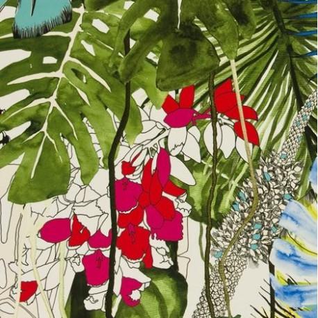 Tissu Jardin Exo'chic Bougainvilliers par Christian Lacroix