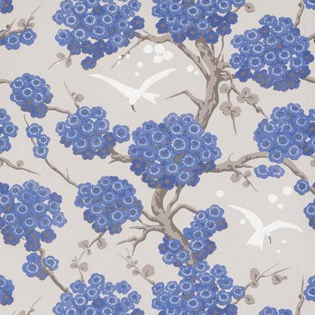 Papier Peint Japonerie Bleu