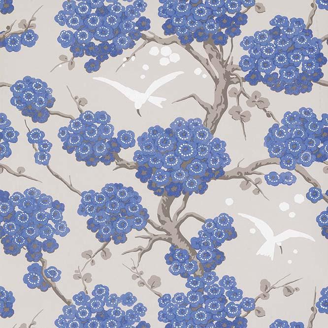 Papier Peint Japonerie Bleu OSBORNE & LITTLE - Atelier du passage