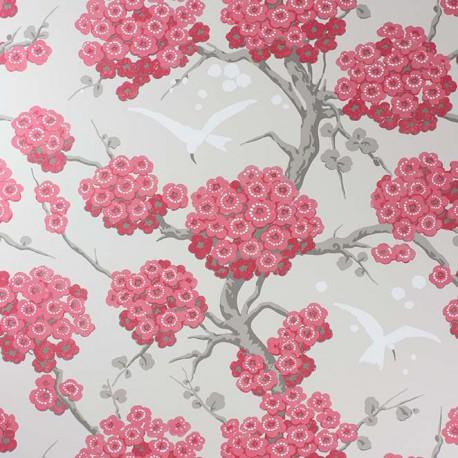 Papier Peint Japonerie Rouge
