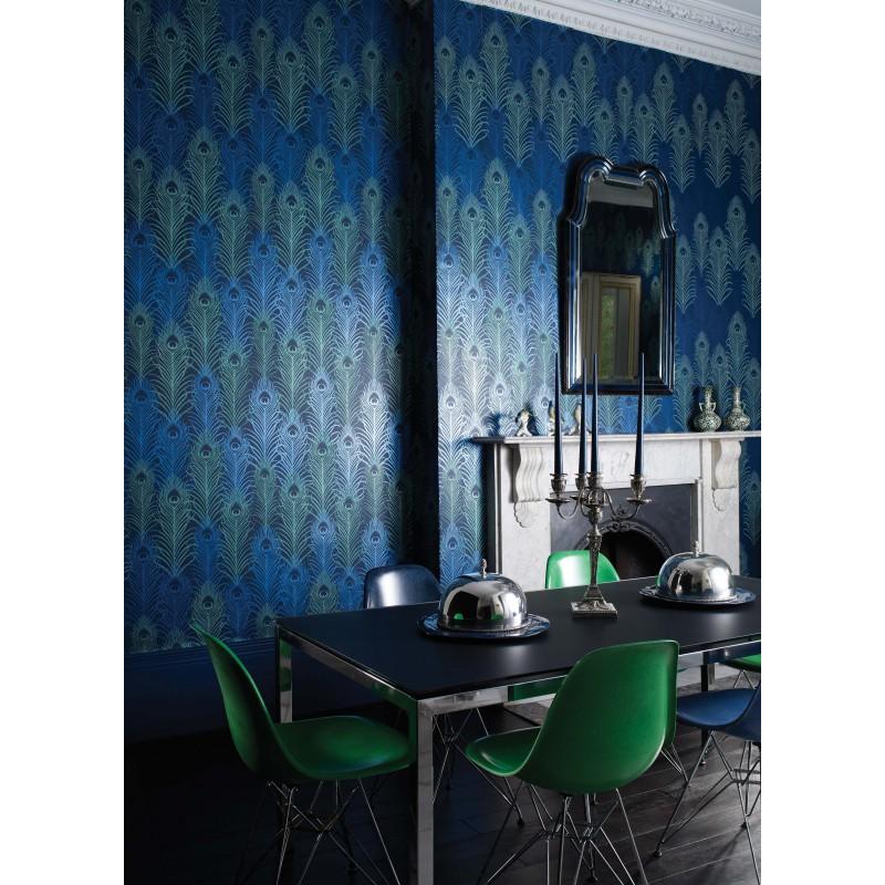 papier peint peacock bleu nuit matthew williamson. Black Bedroom Furniture Sets. Home Design Ideas