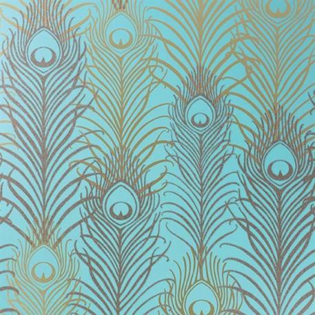 Papier peint peacock jade matthew williamson atelier du passage - Papier peint avec motif ...