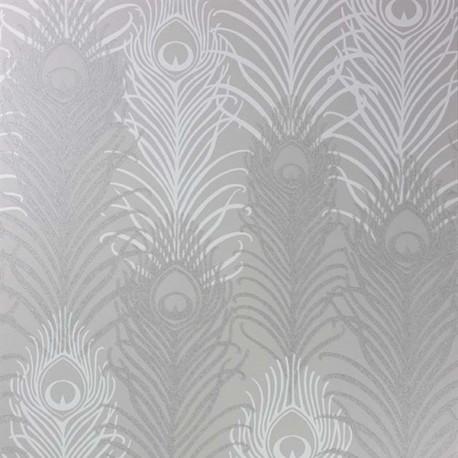 Papier Peint PEACOCK Peeble / White