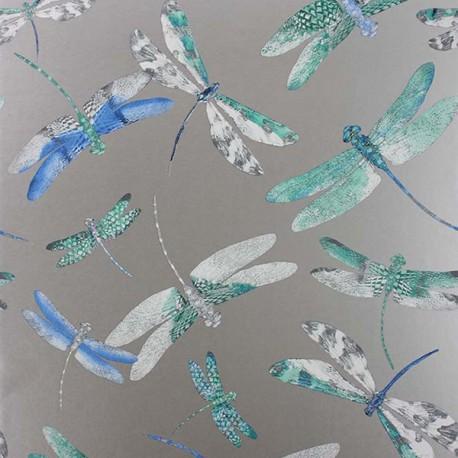 Papier Peint DRAGONFLY DANCE Blue / Jade