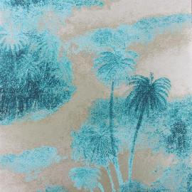 Papier Peint COCOS Bleu