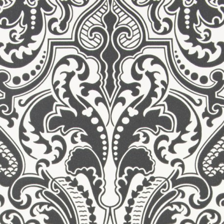 Papier Peint GWYNNE DAMASK Charcoal