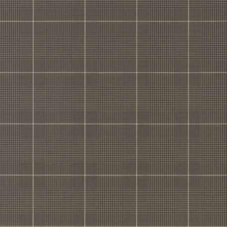 Papier Peint EGARTON PLAID Gunmetal Black