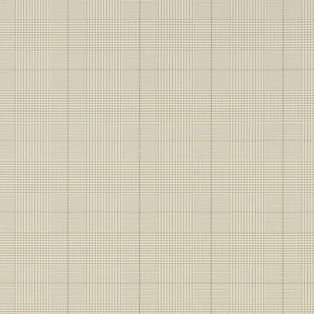 Papier Peint EGARTON PLAID Gunmetal Cream