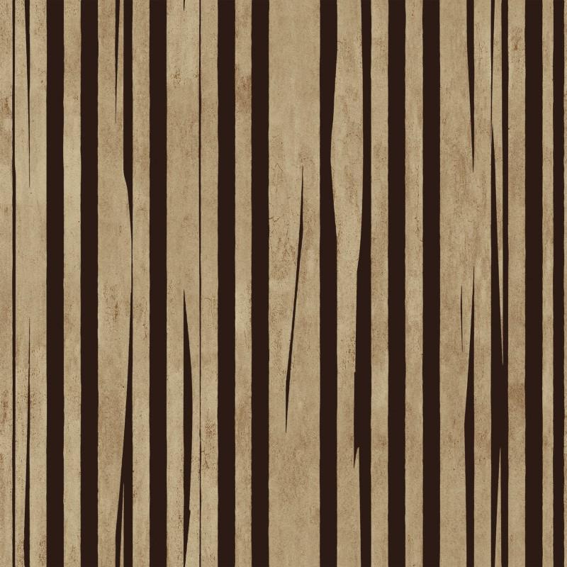 Papier peint fandango brun elitis atelier du passage for Papier peint elitis prix
