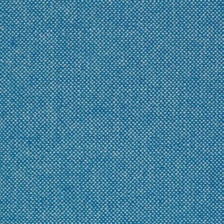 Tissu Kvadrat Hallingdal 65 turquoise et blanc