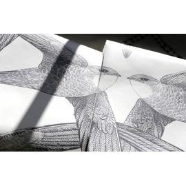 Papier peint WHITE BIRDS BIEN FAIT