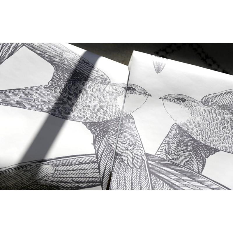 papier peint white birds bien fait atelier du passage. Black Bedroom Furniture Sets. Home Design Ideas