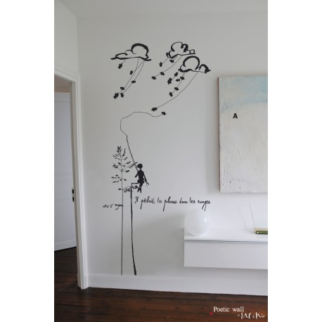 stickers grand format conte de nuage mel et kio. Black Bedroom Furniture Sets. Home Design Ideas