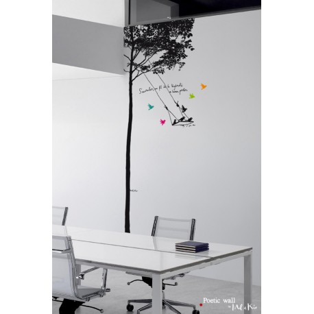 stickers grand format l 39 arbre balan oire mel et kio atelier du passage. Black Bedroom Furniture Sets. Home Design Ideas