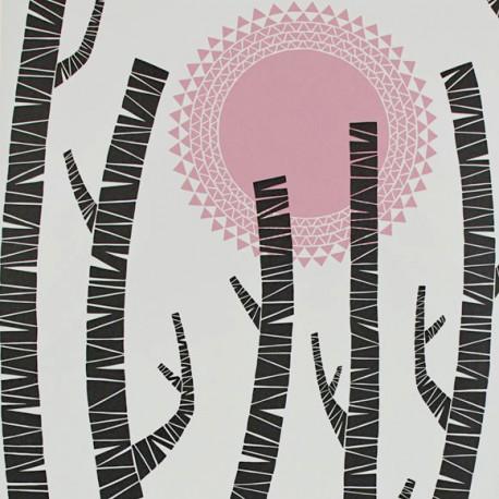papier peint woods miss print atelier du passage. Black Bedroom Furniture Sets. Home Design Ideas