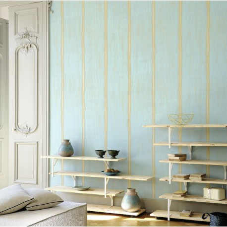 papier peint nomades sari bleu de elitis atelier du passage. Black Bedroom Furniture Sets. Home Design Ideas