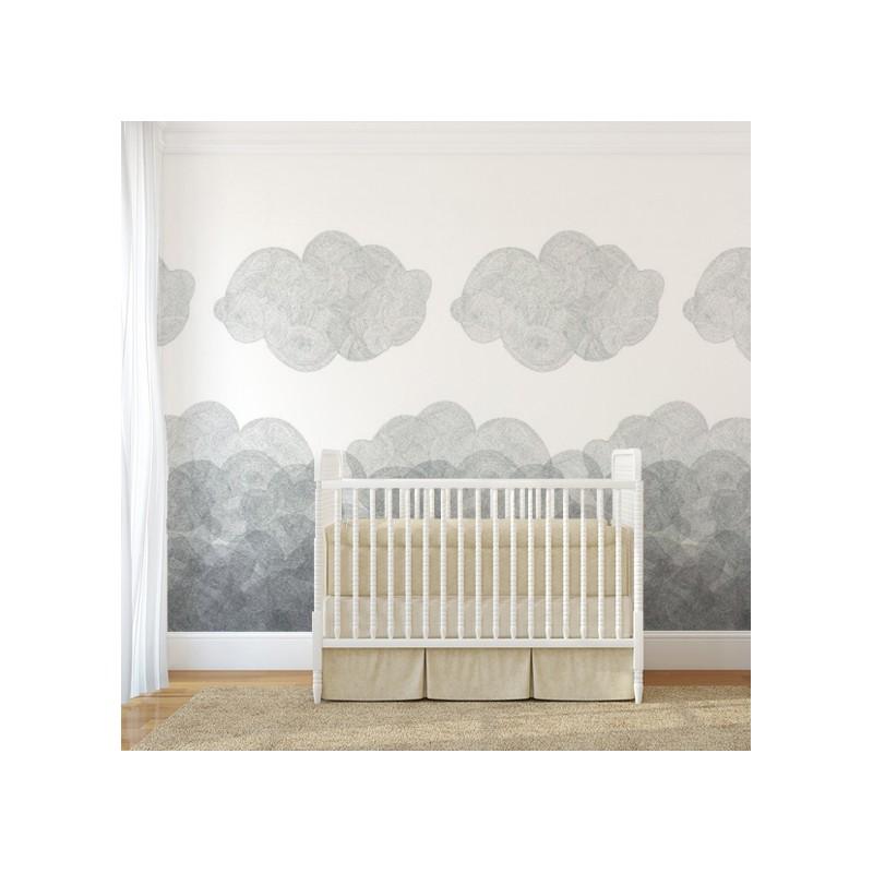 papier peint cloudy bien fait atelier du passage. Black Bedroom Furniture Sets. Home Design Ideas