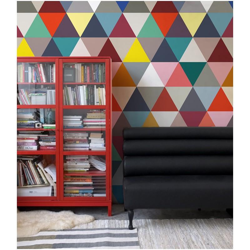 papier peint mosaic classic bien fait atelier du passage. Black Bedroom Furniture Sets. Home Design Ideas