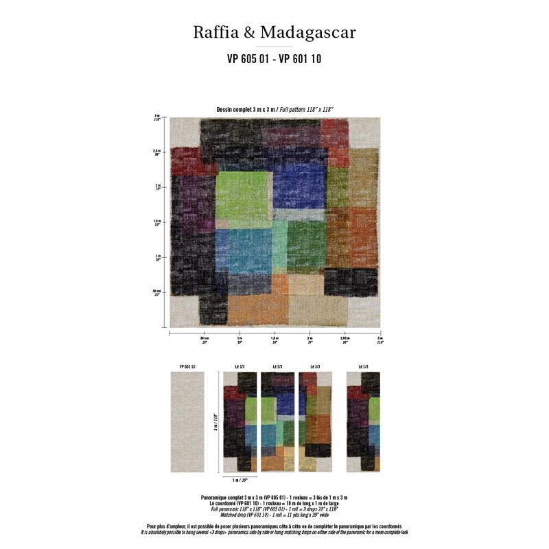 Papier peint multicolor elitis atelier du passage - Papier elitis ...