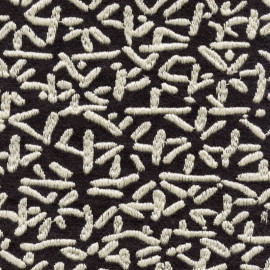Tissu FLANELLE brodée ELITIS