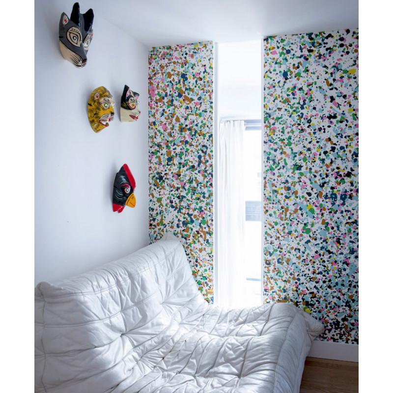 papier peint stardust day bien fait atelier du passage. Black Bedroom Furniture Sets. Home Design Ideas