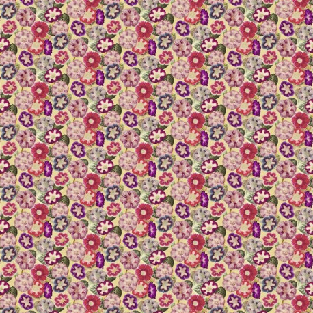 Tissu Variete de Gloxinia violet de John Derian