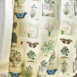 Tissu Flora and Fauna Parchment de John Derian