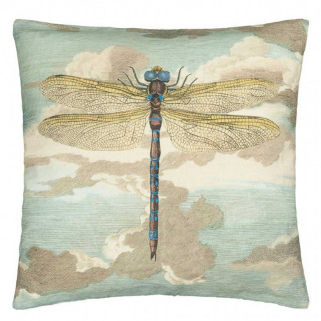 Coussin Dragonfly Over Clouds Sky Blue de John Derian