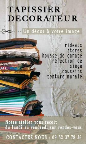 publicité atelier du passage tapissier décorateur fontenay aux roses / Paris